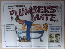 Adventures of a Plumber's Mate (1978) -  UK Quad Film Poster
